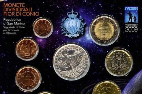 Briefmarken und Münzen San Marino